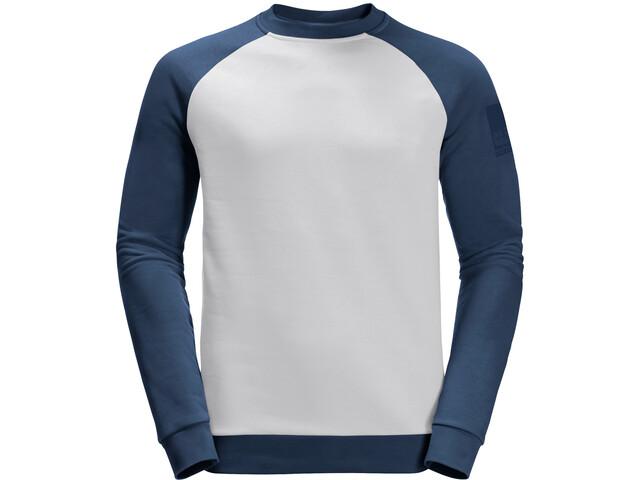 Jack Wolfskin 365 Maglietta girocollo a maniche lunghe Uomo, grigio/blu